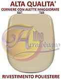 Copriwater sedile wc per DEAL STANDARD TESI champagne coprivaso POLIESTERE ALTA QUALITA'