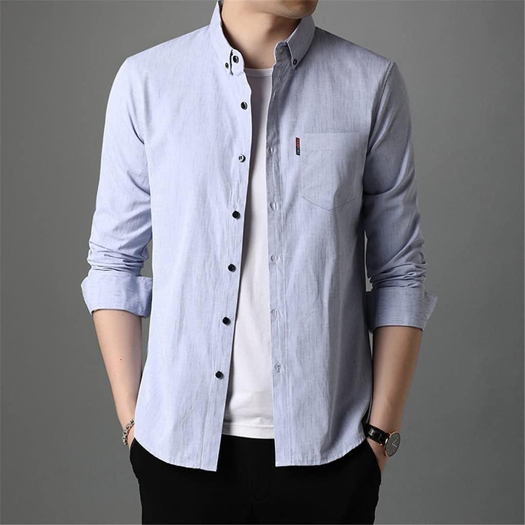 HLDETH Slim Fit Designer Max 65% OFF Men Stripe Korean Shirts Bargain sale Stylish Dress