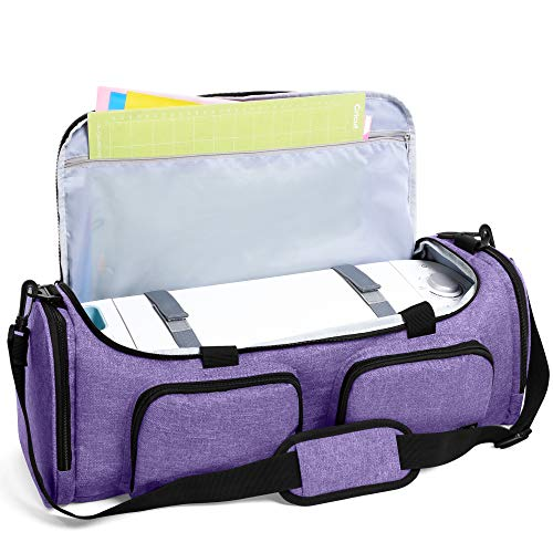 Luxja Bag for Cricut Explore Air (Air2) and Maker, Carrying Case for Cricut Die-Cut Machine and Accessories (Bag Only), Purple