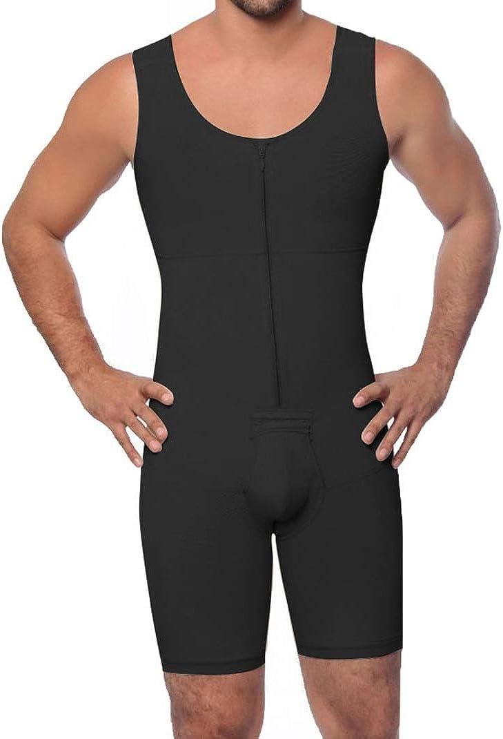 ASO-SLING Men Shapewear Bodysuit cheap Zipper Waist Directly managed store Slimming B Trainer