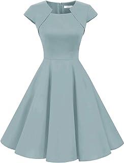 d038b1bd2a7 Homrain Robe Femme Vintage de Soirée Cocktail Cérémonie années 1950s Style Audrey  Hepburn