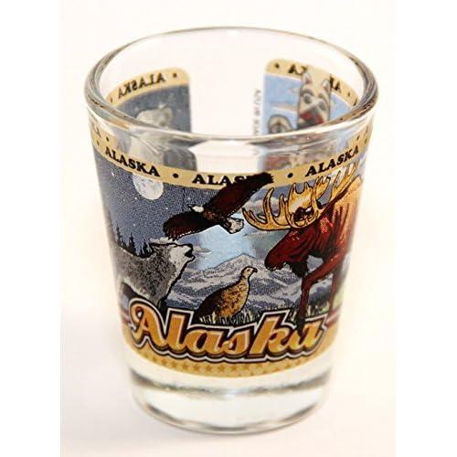 Arkansas State Wraparound Shot Glass