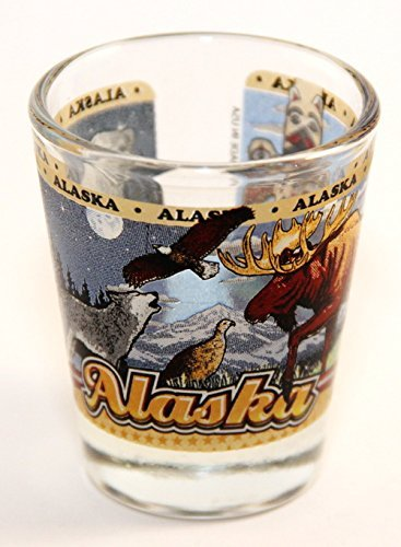 Alaska State Wraparound Shot Glass