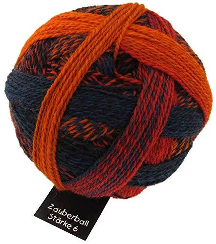Schoppel Zauberball Stärke 6, Farbe 1537 Herbstsonne, 150 Gramm, bunte, dicke Sockenwolle 6-fädig mit Farbverlauf, Socken stricken, häkeln