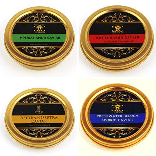 50 gr Imperial Quartet of Caviar (4x50g). 4 Stunning caviar's.Free 1-2 Day...
