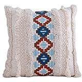 HUIJUAN Cojín étnico bordado tribal bohemio tejido de puntada muy suave y profundo, utilizado para el sofá cama, el coche, decoración del salón