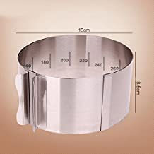 Retractable Circle Mousse Ring Mould Baking Tools Set Stainless Steel Cake Mold Size Adjustable Bakeware