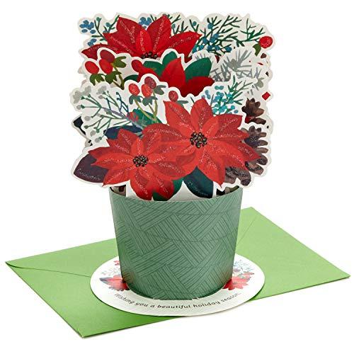 Hallmark Paper Wonder Displayable Pop Up Christmas Card (Poinsettia Bouquet) (699XXH3261)