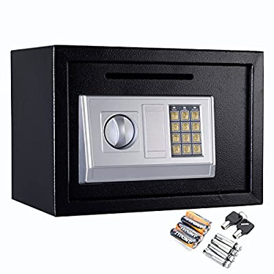 Safstar Electronic Digital Security Keypad Lock Box Home Office Hotel Safe Business Jewelry Cash Money Gun Cabinet