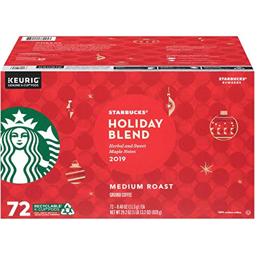 Starbucks Holiday Blend Medium Roast Coffee 72/ 0.40 Oz Net Wt 29.2 Oz,, ()