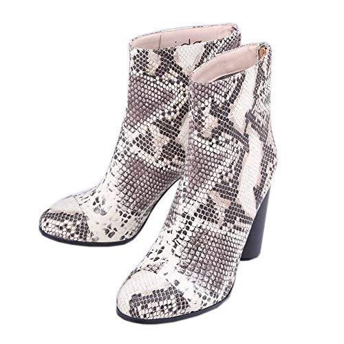 XER Dames Laarzen, Sexy Comfortabele Laarzen Dikke hak Platform Hoge hak Maat 34-46 voor Fancy Dress Party