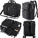FreeBiz Laptop Bag Convertible Backpack Business Briefcase Messenger Bag for 17.3 Inch Laptop Computer Notebook MacBook Chromebook for Men Women Students( Black)