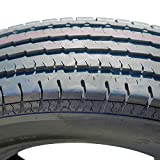 Set of 2 (TWO) Fortune ST01 Premium Trailer Radial Tires-ST205/75R14 205/75/14 205/75-14 105/101M Load Range D LRD 8-Ply BSW Black Side Wall