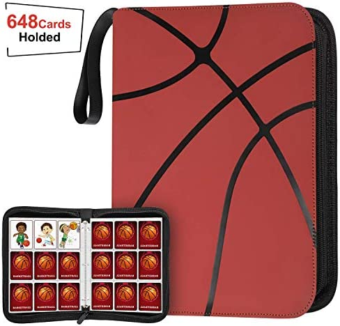 648 Pockets Basketball Card Binder Sleeves for Basketball Trading Cards Carring Case with Basketball product image