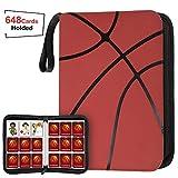 648 Pockets Basketball Card Binder Sleeves for Basketball Trading Cards, Carring Case with Basketball Card Sleeves Album Card Holder Protectors for Football Baseball Sports Card
