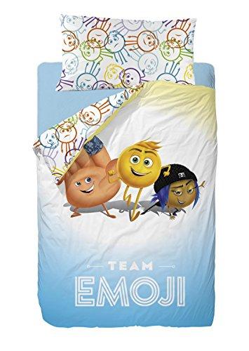 The Emoji Movie Saco Nórdico para Cama, Algodón-Poliéster, Multicolor, Individual, 190x90x25 cm, 2 Unidades
