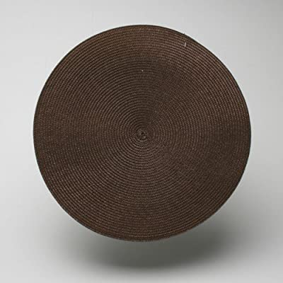 Tag Round Chocolate Brown Woven Placemat