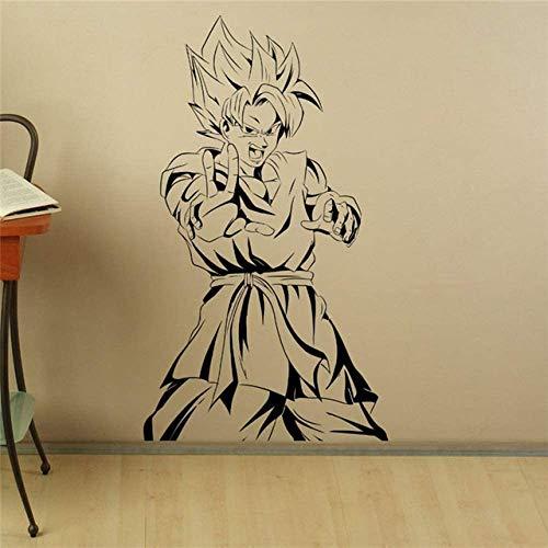 Son Goku Wandtattoo Manga Anime Vinyl Aufkleber Japanisch Home Interior Schlafzimmer Dekor Kunst Wandtür Aufkleber Haushaltswaren Schwarz S 48 X 85 Cm