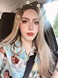 24' Long Ombre Brown Blonde Lace Front Wigs Straight Heat Resistant Glueless Synthetic Hair Replacement Wig For Women Half Hand Tied