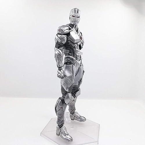 QRFDIAN Anime-Peripherie-Modell PA ge ert Silber Iron Man PA ge ert Man Weißron Man grau beGrünzt Handmodell H  ca. 25cm