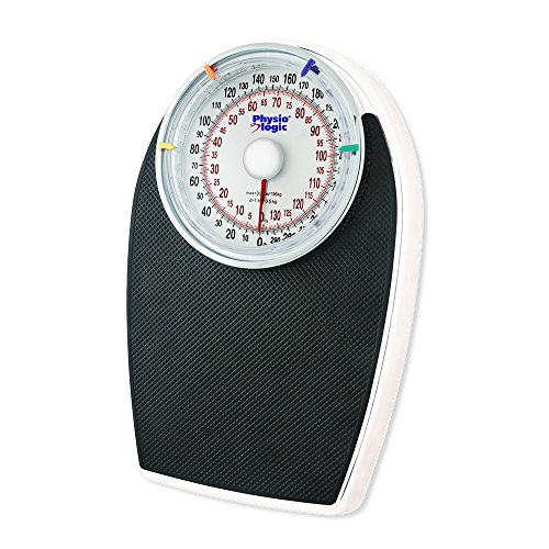 Physio Logic Pro Series Mechanical Analog Body Weight Bathroom Scale, Black