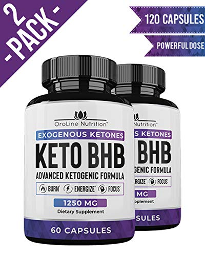 Keto Pills - (2 Pack | 120 Capsules) Advanced Keto Burn Diet...