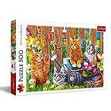 Trefl 37326 - Puzzle Modelo Gatos en el jardín, 500 Piezas, Multicolor