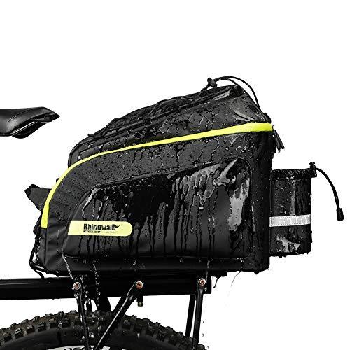 Alforjas Bicicleta Trasera Impermeable Alforjas Bicicleta Impermeable Ciclismo Accesorios Bolsas para Bicicleta Green,Free Size