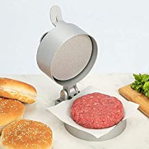 Lucky Monet Adjustable Burger Press Hamburger Patty Maker, Non-Stick Cast Aluminum, Makes 4 1/2