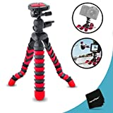 """12"""" Inch Flexible Tripod with Quick Release Plate for Nikon Coolpix S6800, S6500, S6400, S6300, S6200, S6150, S6100, S6000, S1200pj, S1100pj, S1000pj, S800c, S640, S630, S620, S610, S610c, S70, S31, S710, P330, P310, P300 Digital Cameras"""