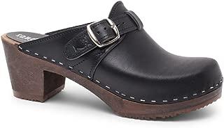 Swedish High Heel Wooden Clog Mules for Women   Nashville