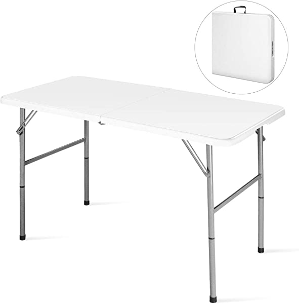 Goplus Folding Table Portable Plastic Picnic Party Dining Camp Tables Indoor Outdoor HDPE