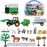 SHANNA Juguetes de Granja para Niños, Juguetes de Granja, Figuras, Animales, Cercas, Tractores y Accesorios para Regalos de Niños (Juguete de Granja B)