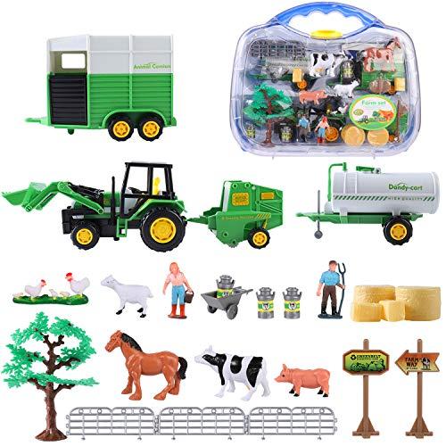 SHANNA Juguetes de Granja para Niños, Juguetes de Granja, Figuras,