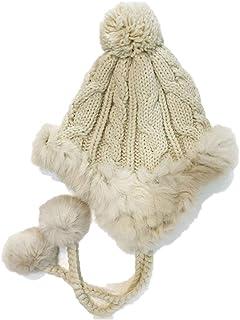 ニット帽 耳あて付きキャップ 裏起毛冬用防寒帽 レディース 耳あて ポンポン 秋冬 暖かい 帽子 おしゃれ 小顔効果 スキー スノボ 通学 雪かき アウトド 散歩