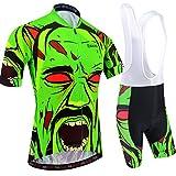 BXIO Camisetas de Ciclismo para Hombre Fluo Green Mangas Cortas y Pantalones Cortos Acolchados con Gel Trajes de Ciclismo Transpirables Ropa Ciclismo 204 (Fluo Green(204,Bib Shorts), M)