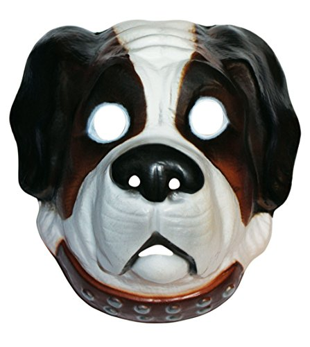 Bristol Novelty Brown Plastic Animal Dog Mask Men's One Size