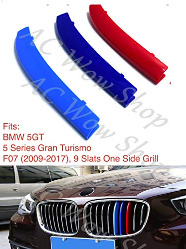 B M W 5 Series GT Gran Turismo F07 2009 – 2017 9 Bares Capucha Radiador Parrilla Rayas Slat Insertos Trim Clips M Power Sport Performance Tech Paket Color Grilles Badge