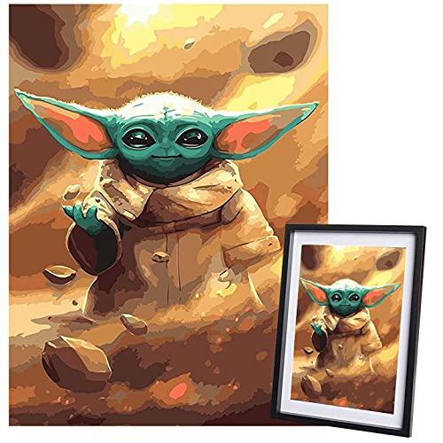 Kit De Pintura Diamante 5D para Niños Adultos, Hilloly Star Wars Diamond...