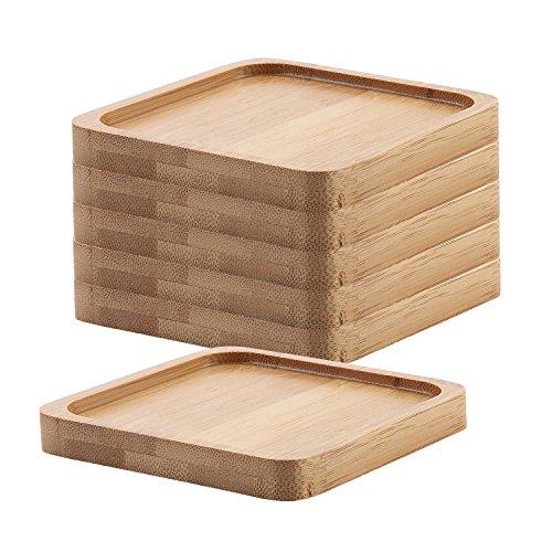 T4U 9.3CM Bambù Piazza Vassoio di bambù Confezione da 6