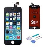SANKA Ecran LCD pour iPhone 5, Retina Tactile Écran Vitre Display Digitizer Kit de Réparation...