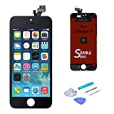 SANKA Ecran LCD pour iPhone 5, Retina Tactile Écran Vitre Display Digitizer Kit de...