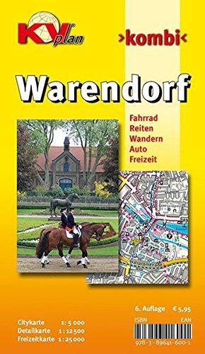 Warendorf: 1:12.500 Stadtplan mit Freizeitkarte 1:25.000 inkl. Rad-, Reit-, und Wanderwegen zzgl. Cityplan 1:5.000: Citykarte 1 : 5 000. Detailkarte 1 ... Auto, Freizeit (KVplan Münsterland-Region)