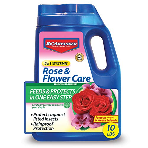 BIOADVANCED 708210A Rose and Flower Care 2-in-1 Systemic Granular, 10 Pound