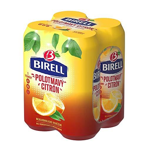 Birell Polotmavy Citron - Halbdunkles Alkoholfreies Radler mit Zitrone (4 x 500ml)