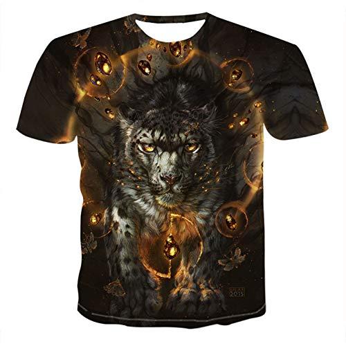 SSBZYES Herren T-Shirt Herren Kurzarm T-Shirt Herren Bedrucktes T-Shirt 3D Wolf Bedrucktes Kurzarm T-Shirt Herren Wolf Bedrucktes T-Shirt Herren Oberteil