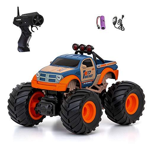 Diawell Ferngesteuertes Auto RC Monstertruck Geländewagen Offroad-Auto Spielzeugauto Rennauto 2,4 GHz mit Wiederaufladbare Batterien als Geschenk für Kinder, Jungen und Mädchen Blau-Orange