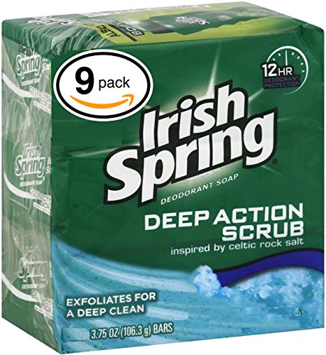 Irish Spring Original Deodorant Bar Soap, 3 Count per Box, 11.1 Ounce, Pack of 8