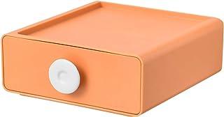 Boîte De Rangement De Tiroir en Plastique,Grande Capacité Empilable Paniers De Rangement avec Handle,Stable Multifonctionn...