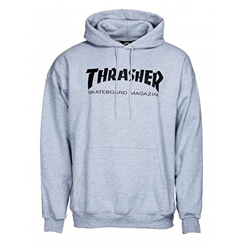 Sweat a capuche Thrasher - Heather - Taille M - Couleur Gris
